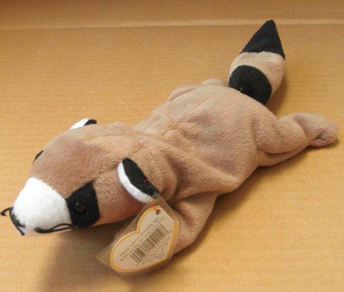 TY Beanie Babies Ringo the Raccoon Stuffed Animal Plush Toy - 12 inches long