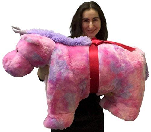 Giant Stuffed Unicorn Pillow Plush 40 Inch Extra Huge Squishy Soft Animal Toy New