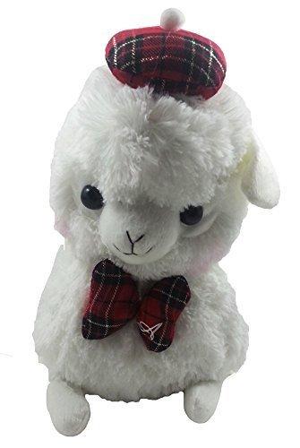 Japanese Amuse Cute Baby Alpacasso 13 White Alpaca Llama Soft Animal Stuffed Sitting Plush Toy