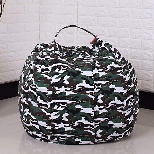 Evoio Bean Bag Stuffed Animal Storage Kids Toys Organizer Comfy Beanbag Chair Multipurpose Storage Bag 100 Cotton Premium Canvas Camouflage Green 38
