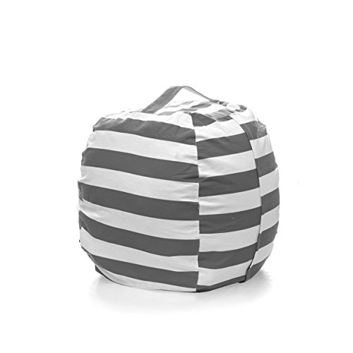 PJS-MAX Storage Bean Bag Chair for Kids - Stuffed Animal Chair Storage Bag Jumbo Size Perfect for Soft Toys Clothes Blankets 5 Colors Available Gray Extra-Large