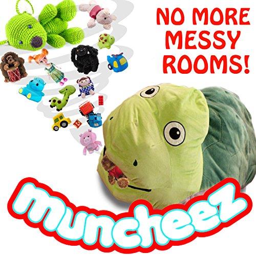 Muncheez Turtle Stuffed Animal Coolest Toy Organizer For Children Plush Cuddly Toy Storage Solution For Kids