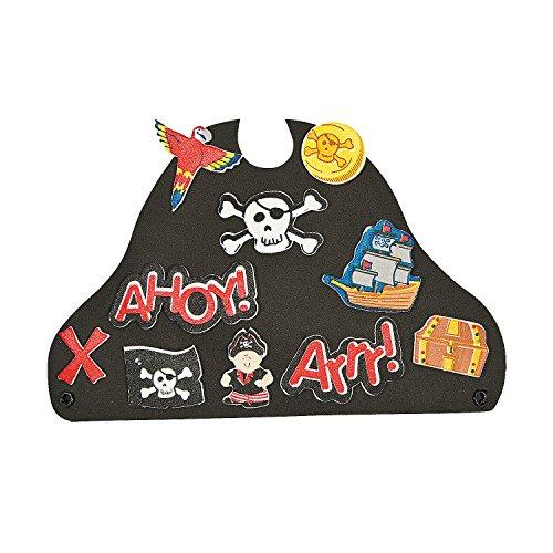 Fun Express - Foam Pirate Hat - Craft Kits - Apparel Craft Kits - Hat Mask - 12 Pieces
