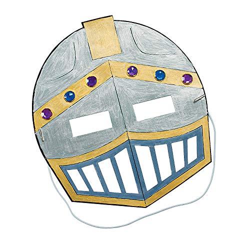 Fun Express Knight Mask Craft Kits - Apparel Craft Kits - Hat Mask - 12 Pieces