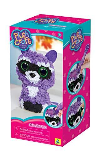 Orb Factory 73374 Raccoon Plush Craft Fabric Fun 3D Kit Multicolor