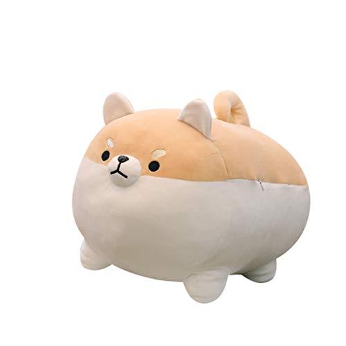 FTXJ Anime Shiba Inu Plush Stuffed Sotf Pillow Doll Cartoon Doggo Cute Shiba Soft Toy 40 cm Brown