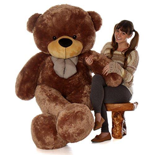 Giant Teddy Brand 6 Foot Life Size Mocha Brown Color Big Plush Teddy Bear Sunny Cuddles Original