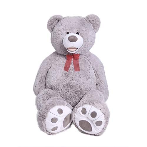 HollyHOME Teddy Bear Plush Giant Teddy Bears Stuffed Animals Teddy Bear Love Big Footprints 5 Feet Grey
