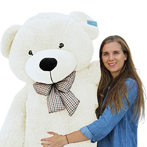 Joyfay Giant Teddy Bear White- Over 6ft 78 Teddy Bear in Bold White with Velvety Plush Velour Christmas Bear