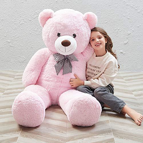 MorisMos Giant Cute Soft Toys Teddy Bear for Girlfriend Kids Teddy Bear Pink 47 Inch