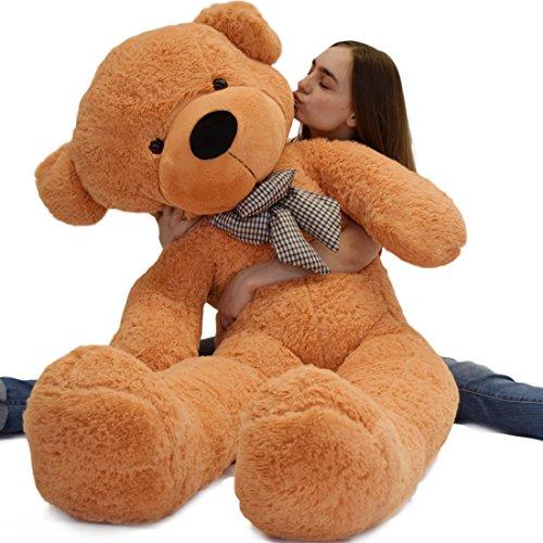 WOWMAX 45 Foot Light Brown Giant Teddy Bear Cuddly Stuffed Plush Animals Teddy Bear Toy Doll 55