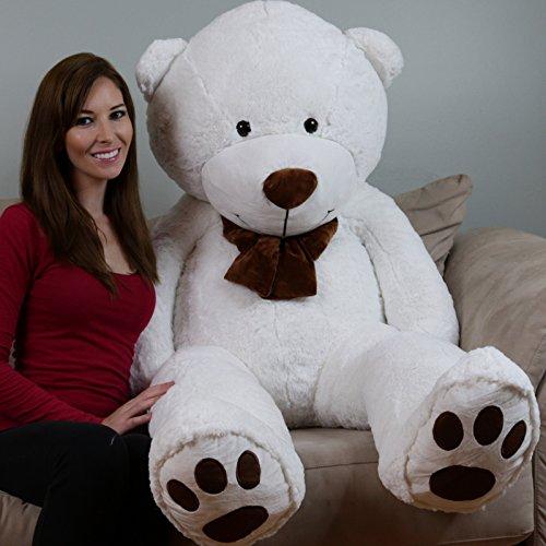 YesBears 5 Foot Giant Teddy Bear Cream White Love Pillow Included