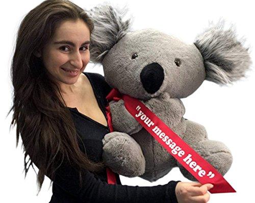 Big Plush Personalized Large Stuffed Koala Bear 26 inches Soft American Made Animal Made in The USA