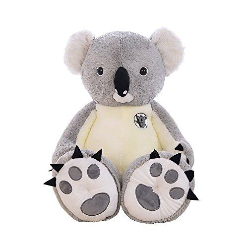 seemehappy Fluffy Koala Stuffed Toy Soft Koala Doll Birthday Gifts 90CM