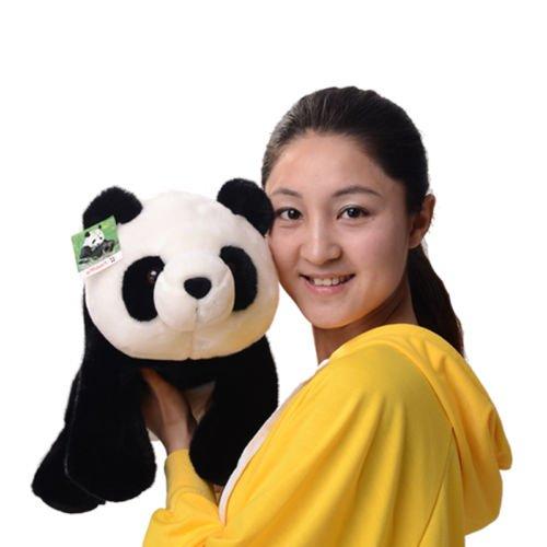 One piece 25cm10 S size Sitting PANDA Stuffed Animal Plush Soft Toy Cute Doll