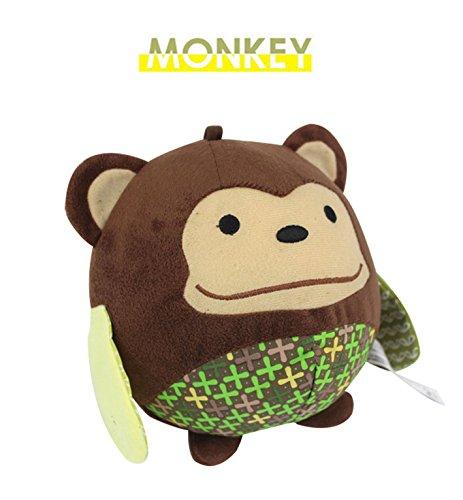 Naovio Kids Monkey Chubby Plush Toy Soft Plush Snuggle Buddy Toy Stuffed Animal Figure Collection Ball Toy Funny Christmas Gift Birthday Gift for Baby Kids
