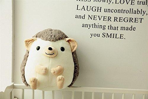 Chubby Hedgehog Stuffed Toy Plush Hedgehog Toy Birthday Gift 45CM Grey