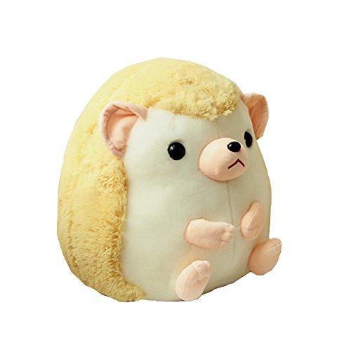 Chubby Hedgehog Stuffed Toy Plush Hedgehog Toy Birthday Gift 45CM Yellow