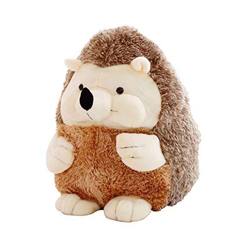 Nuri Toys Hedgehog Stuffed Animal Plush Toy Gift for Kids 7 Brown