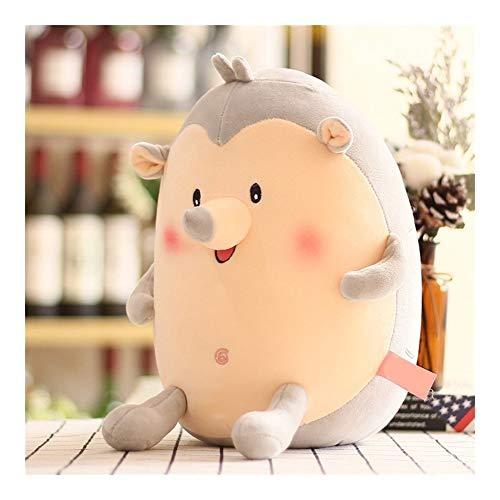 Plush Toys YSJ Cute Fat Hedgehog Stuffed Animal Doll Toy Soft Plush Pillow Baby Toy Children Birthday Gift  Color  Gray  Size  42cm