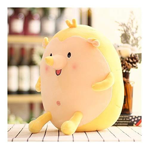 Plush Toys YSJ Cute Fat Hedgehog Stuffed Animal Doll Toy Soft Plush Pillow Baby Toy Children Birthday Gift  Color  Yellow  Size  42cm