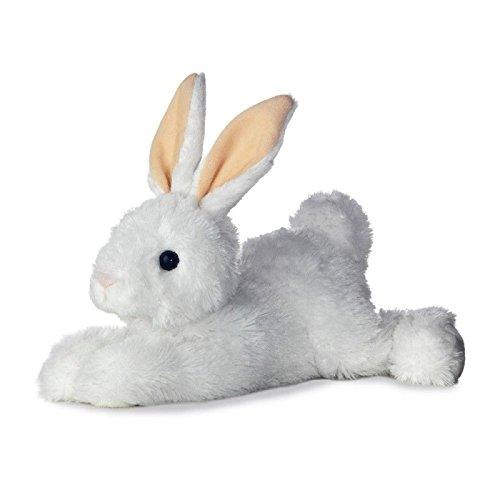 Aurora Flopsies Bunny 08600 12 inches Cuddly Rabbit Soft Toy Grey