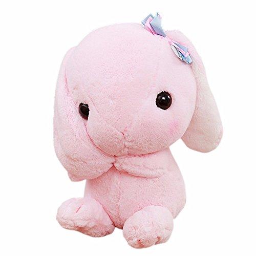 Leegor 23CM Cute Stuffed Rabbit Soft Toy Cartoon Long Ears Hare Limited Edition Children Plush Doll Xmas Gift Birthday Present Pink