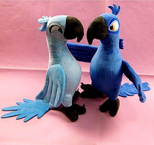 Good 2 Pcs BLU JEWEL 35cm Rio Plush Toy Parrot Bird Stuffed Animal Doll xmas gift