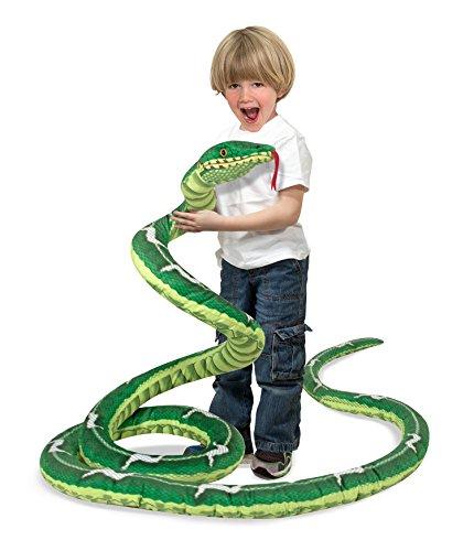 Melissa Doug Giant Boa Constrictor - Lifelike Stuffed Animal Snake over 14 feet long