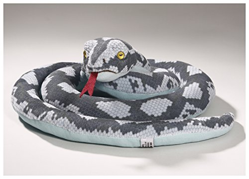 Stuffed Animal Snake blue-grey 12 inches Diameter 30cm Plush Toy Soft Toy