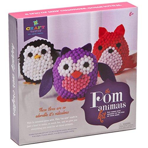 Craft-tastic Pom Stuffed Animals Kit