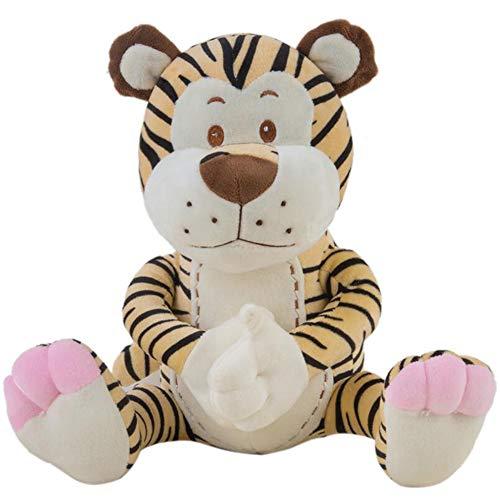 GCCLCF Cartoon Tiger Plush Toy Living Nature Soft Toy Safari World Wildlife Plush Animals Height 40 cm