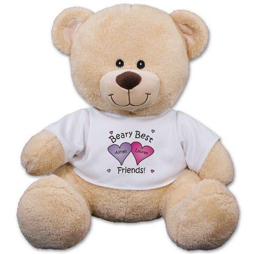 11 Personalized Beary Best Friends Teddy Bear Plush