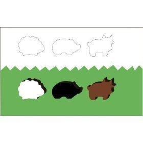 Animeeples Wooden Farm Animals