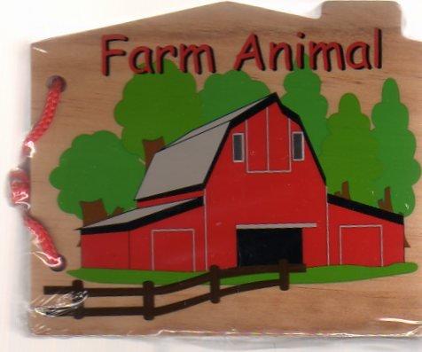 Wooden Farm Animal Book
