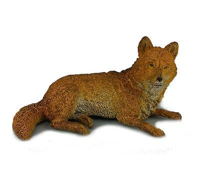 AAA 52001 Brown Wolf Lying Wild Animal Toy Model Figurine Replica by AAA