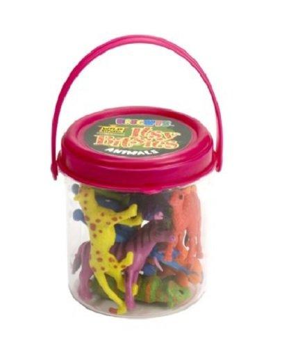 Wild Animal Toy Figurines Bucket