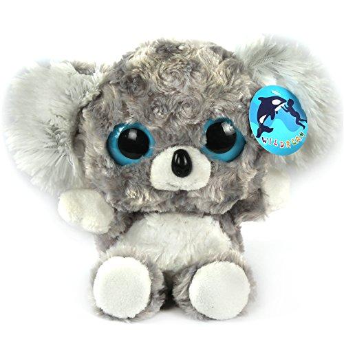 WILDREAM Stuffed Animals Plush Toys Koala With Furry Ears And Sparkle Big Eyes
