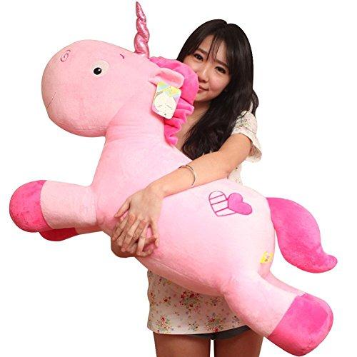 TICKOS Unicorn Plush Toys Soft Pillow Pink