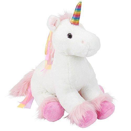 Toys R Us Plush 18 inch Rainbow Unicorn - White
