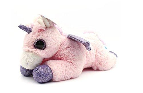 WILDREAM Pink Unicorn Sparkle Big Eyes 11 Unicorn Plush Toy with Wings