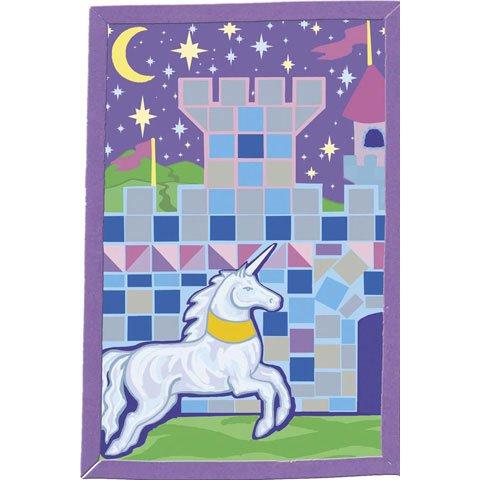 Bulk Buy Darice Foamies Mosaic Art Kit Unicorn Castle 6 x 9 inches 3-Pack 1056-64