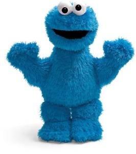 Sesame Street Cookie Monster Plush 14 INCH