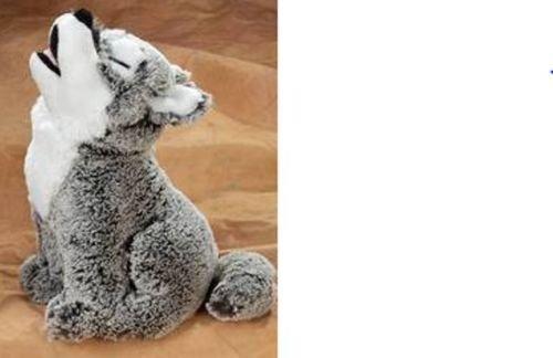 12 Howling Wolf Plush Stuffed Animal Toy - New
