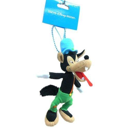 Three little pigs Big Bad Wolf plush toy key chain strap  Tokyo Disney Resort Limited