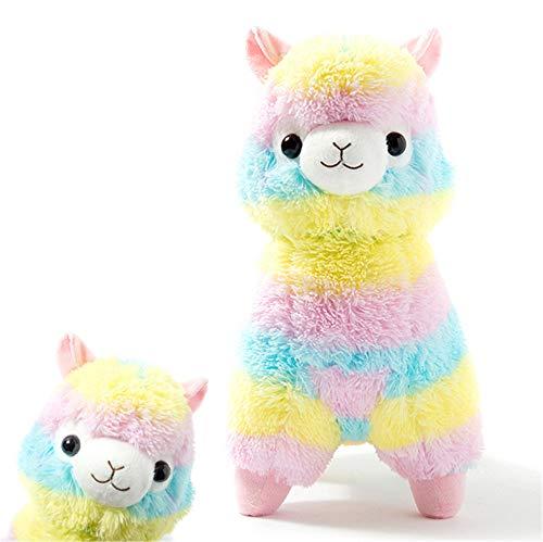 Alpacasso Rainbow Plush Alpaca Stuffed Toy 16-Inch