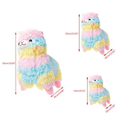 Dubaym Alpaca Plush Toy Rainbow Amuse Lama Alpacasso Doll Cotton Stuffed Animal Toys Small