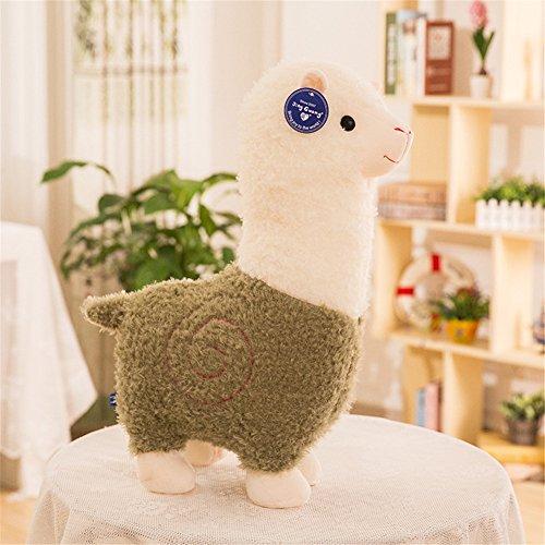 Mangadua Stuffed Alpaca Plush Animal Toys Sheep Decor Pillows Green 28cm