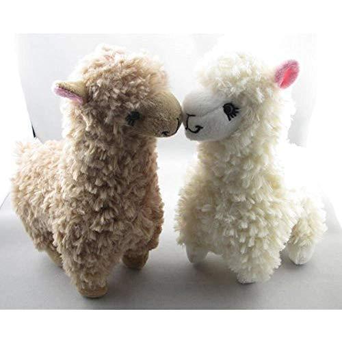 kidsheaven Alpaca Plush Toy Camel Cream Llama Stuffed Animal Gift Toy 9 inches 2pcs of Set