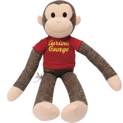 Classic Curious George Character Sock Monkey 20 Inch Stuffed Animal Plush